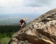 Im Nachstieg am Kleinen Matterhorn - Abbau der Sicherungen