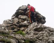 Der Gipfel von Castor und Pullox ist bezwungen - alpines Kletterglück ;)
