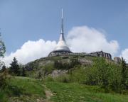 Blick auf den Jested beim Klettern am Kleinen Matterhorn
