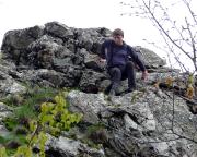 Wiese free Solo am Gipfel des Breithorns unterwegs