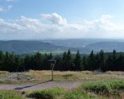 Blick von Plänckners Aussicht in Richtung Süden, auf Suhl