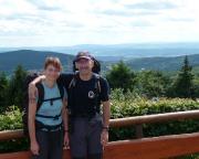 Der erste Höhepunkt ist erreicht, Aussicht vom Großen Inselsberg