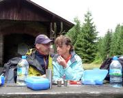 Picknick an der  Schutzhütte Wachserrasen