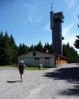 Unverständlich - in der Hochsaison hat die Rennsteigwarte auf dem Eselsberg bei Masserberg Ruhetag!