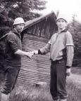 Bei meiner ersten Rennsteigwanderung mit Steffen Große Gipfeltreffen auf dem Großen Beerberg