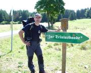 Rennsteigwanderung 2008 - kurz vor der Triniusbaude