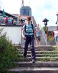 Schnell wieder weg vom Touristentrubel,  Abstieg vom Großen Inselsberg.