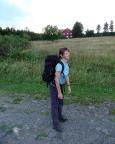 Sichtlich geschafft erreichen wir nach der längsten aller Etappen die Unterkunft an der Ebertswiese