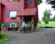 Tagesstart bei kühlem regnerischem Wetter am Gasthaus Ebertswiese
