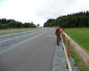 Vor und nach Steinbach nervt der Rennsteig - kilometerlange Asphaltpassagen, furchtbar
