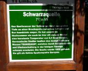 Zwischen Limbach und Neuhaus passiert man die Schwarzaquelle