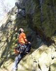Begutachtung der Kletterroute Verschneidung, lt. Kletterführer 2 - niemals!