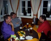 Gemütlicher Abend in der Moravska-Baude, unserem Nachtquartier