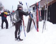 Skitour 2007 - fast geschafft, letzte Rast in Jizerka, wenige Kilometer vor dem Ziel und der Heimfahrt