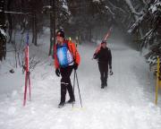 Aufstieg auf den Buchberg vor Jizerka - eine Schinderei nach den vielen Kilometern