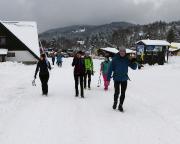 Start unserer Tagestour an den Abfahrtshängen von Hrabetice