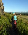 Das gibt Muckis: Seilaufnehmen nach dem Kletterabenteuer