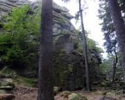 Blick auf einen kleinen Teil des Großen Feuersteins bei Schierke