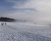 Beeindruckendes Spiel zwischen Wolken und Sonne bei unserer Talfahrt