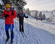 Unsere Skilanglauftour von Hrabetice nach Kralovka kann beginnen