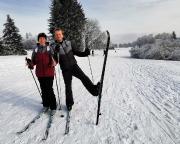 Auch die Langlaufneulinge Katrin und Steffen kommen bestens zurecht