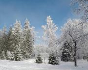 Dann war es  soweit, traumhafter Winter am Aussichtspunkt Bramberk