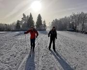 Im sanften Anstieg von Hrabetice nach Kralovka - Königshütte
