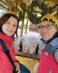 Letzte Stärkung vor unserer Winterwanderung Oberhof - Schmiedefeld