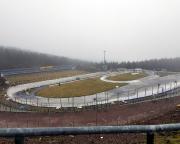 Die DKB-Biathlon Arena von Oberhof, wie gesagt, im Februar