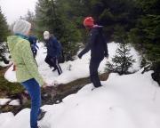 Nicht nur Schnee, Sumpf, Morast und Wasser  machten den Aufstieg unangenehm