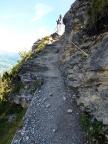 Etwa 800m vor Alpigen die einzig versicherte Stelle des Trails