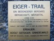 Was man zum Eiger-Trail wissen sollte - Hinweistafel am Pfad