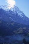 Der Eiger mit Ostgrat und Nordwand, aufgenommen in Grindelwald
