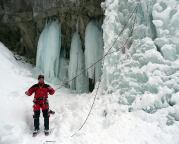Hinterbrand Eisfall - dann wieder runter und Auswertung