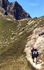 Pfad vom Schutzhaus Kuhleiten in Richtung der beiden Gipfel