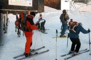 Skiabfahrt vom Jenner als Tagesausklang nach dem Eisklettertrainingstag