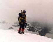 Auf dem Rückweg vom Gipfel des Johannisberg mit Blick auf die Pasterze