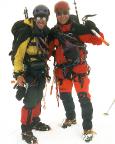 Johannisberg Nordwand - auf dem Gipfel