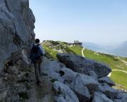 Alpspitz-Ferrata - das vorherige Foto bei gutem Wetter in die andere Blickrichtung