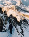 Rückstieg 2003 über den Innerkofler-Steig, oben der Toblinger Knoten