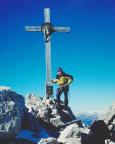 Paternkofel, Gipfel - nach unser ersten alpinen Bergfahrt unter Winterbedingungen