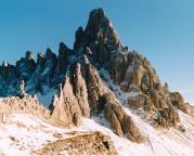 Der Paternkofel, aufgenommen im Oktober 2003 von der Drei-Zinnen-Hütte