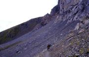 Zustieg zum Rotstock-Klettersteig in Richtung Eiger-Nordwand