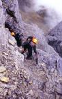 Nordwandfeeling am Fuße des gewaltigen Eiger im Rotstock-Klettersteig