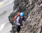 Heike Richter im Rotstock-Klettersteig