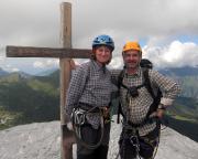 Heike und Andreas Richter auf dem Rotstock am Fuße der Eigernordwand