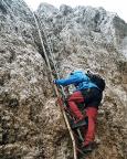 Sextener Rotwand - Eine der zahlreichen teilweise schon zerfallenen Leitern