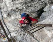 Im Leiternsteig - Dolomitenfreunde-Klettersteig - auf den Toblinger Knoten