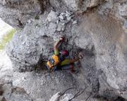 Eindrücke vom Einstieg in den Dolomitenfreunde-Klettersteig