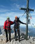 Auf dem Gipfel der Watzmann Südspitze mit Torsten Riemer im Oktober 2009
